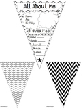 All About Me Pennants - Chevron