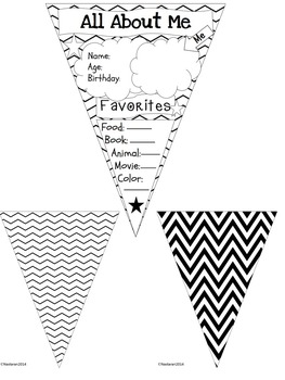 All About Me Pennant {Chevron Theme}