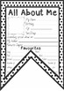 All About Me Pennant Flag - Colour and Black & White - UK Australia