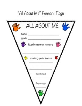 """All About Me"" Pennant Flags"