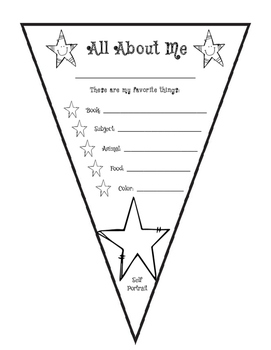 All About Me Pennant Flags