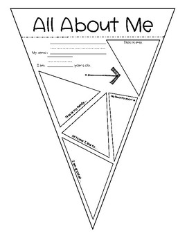 All About Me Pennant Banner Freebie