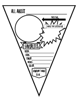 All About Me Pennant - Math