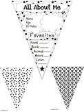 All About Me Pennants -Polka Dots