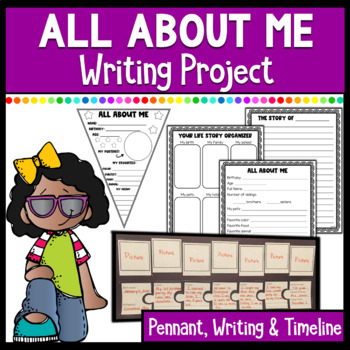 All About Me- Pennant, Poster, Writing project & Timeline