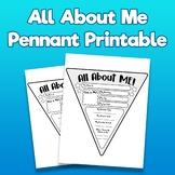 All About Me Pennant Printable