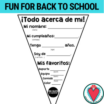 Spanish All About Me Pennant Banner