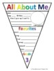 Back to School All About Me Pennant Banner (B&W and Rainbow)