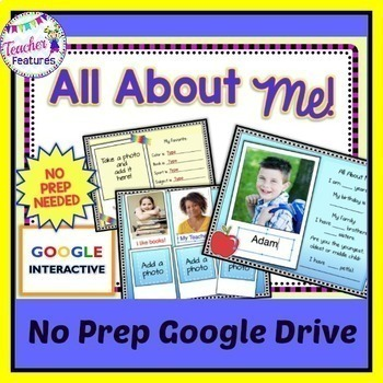 Google Classroom Back to School Paperless All About Me Activities
