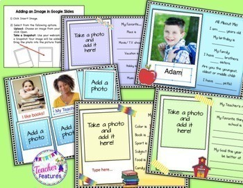Google Classroom Back to School Activities Paperless All About Me Journal
