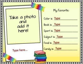 Google Classroom Activities BACK TO SCHOOL ALL ABOUT ME Journal