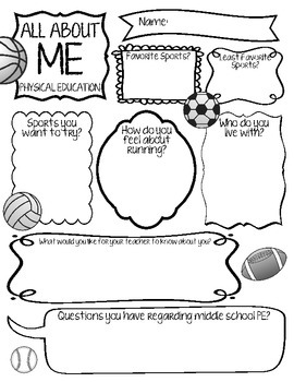 All About Me - Physical Education