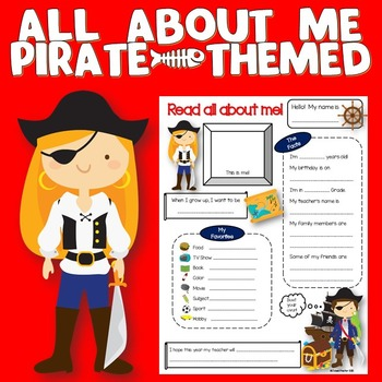 All About Me Pirate Theme