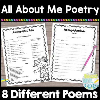 All About Me Poetry