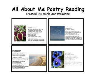 All About Me Poetry Reading