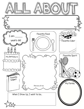 all about me poster by kelly cook teachers pay teachers. Black Bedroom Furniture Sets. Home Design Ideas