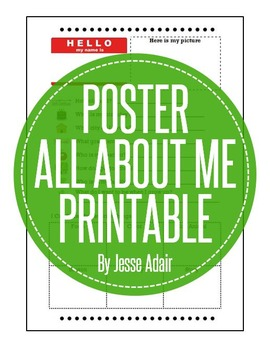 All About Me Poster FREEBIE