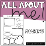 """All About Me"" Poster - A Perfect Activity for Show and Te"