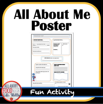 All About Me Poster Activity
