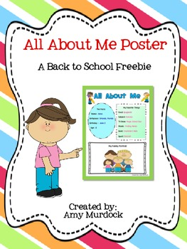 All About Me Poster - A Back to School Freebie!