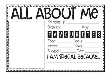 All About Me Poster | Back to School