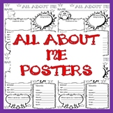 All About Me Poster Back to school