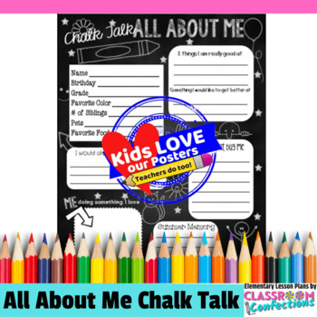 """All About Me """"Chalk Themed"""" Poster"""