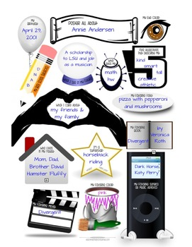 All About Me Poster ~ Middle Grades