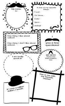 All About Me Poster Mustache Style