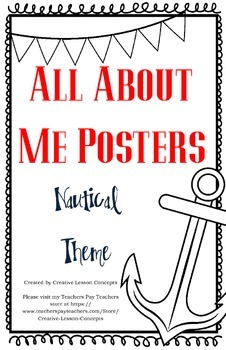 All About Me Poster - Nautical Theme