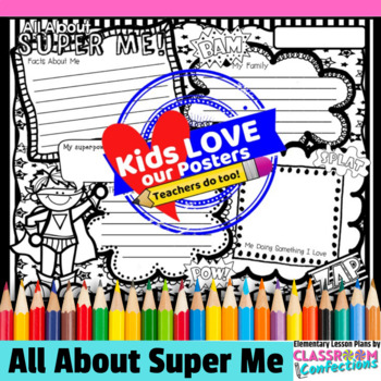All About Me Poster: Superhero Theme