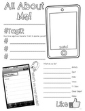 All About Me Poster Freebie! - Social Media Theme