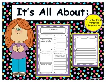 All About Me Poster and Writing Set