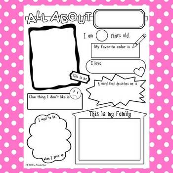 All About Me Poster {getting acquainted for back to school} by ...