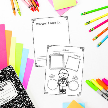 All About Me- Poster, Printables, Cube Craft and Flip Book