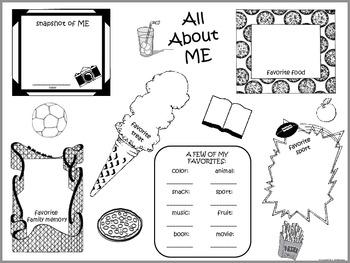 All About Me Posters - Choose from 6! (First Edition)