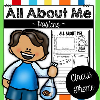 All About Me Posters Circus Theme