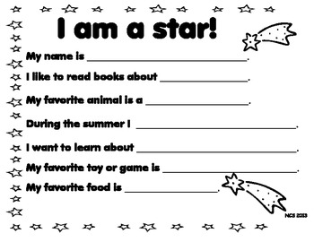 All About Me Posters- Dual Language