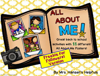 All About Me Posters FREEBIES!