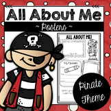 All About Me Back to School Posters:  Pirate Theme