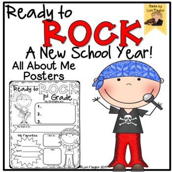 All About Me Posters- Ready to Rock!