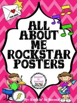 All About Me Posters Rockstar Themed