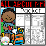 All About Me | Posters | Writing Prompts | Activities | Wo