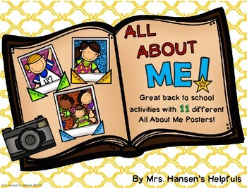 All About Me Posters for Back to School Activities