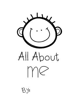 All About Me Pre-K and K Booklet