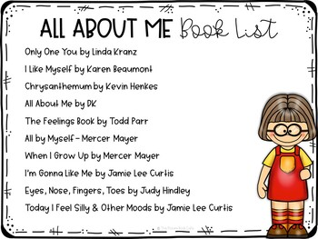 All About Me Preschool Lesson Plans and Activities