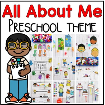 All About Me Preschool Pack- Math, Literacy, and Writing Centers
