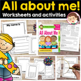 All About Me Activities Pre-K Kinder Worksheets