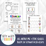 All About Me (Preschool and Kindergarten Activity)
