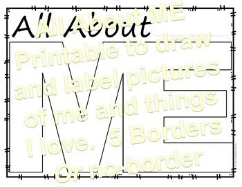All About Me - Printable